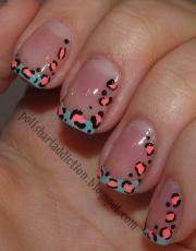 cheetah leopard nail design