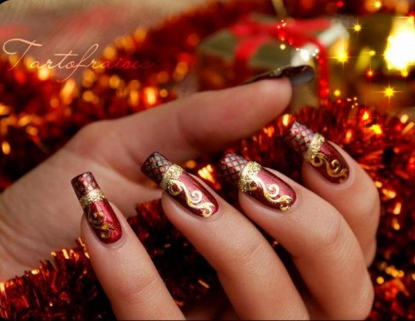 25 Cool Christmas Nail Designs Hative