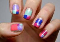 Cool Color Block Nail Designs - Hative