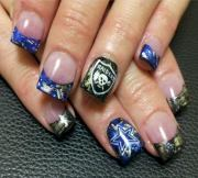 cool football nail art design