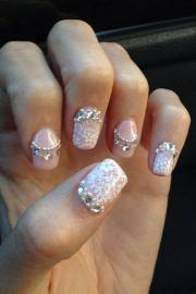 fashionable lace nail art design