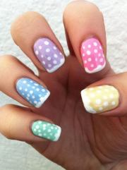 cute polka dot nail design