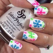 cool snowflake nail art design