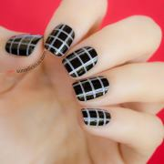 cool stripe nail design - hative
