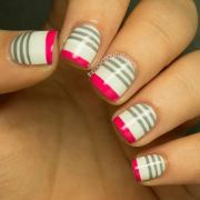 cool stripe nail design - hative