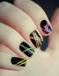Cool Stripe Nail Designs - Hative