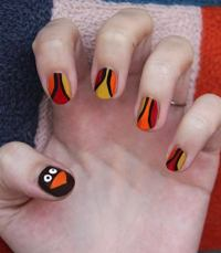 30 Cool Thanksgiving and Fall Nail Designs