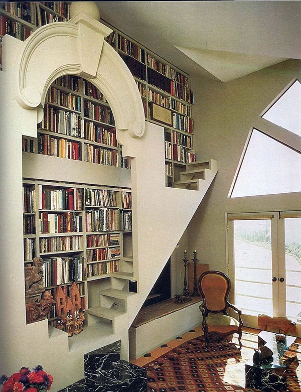 When decorating rooms, it's important not to think of them as a single entity. Cool Home Library Ideas - Hative