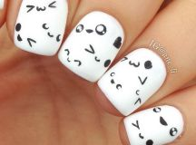 Cute and Happy Smiley Face Nails - Hative