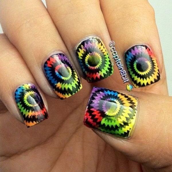 Cute And Creative Swirl Nail Art  Hative