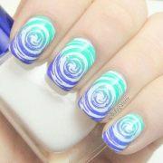 cute and creative swirl nail art