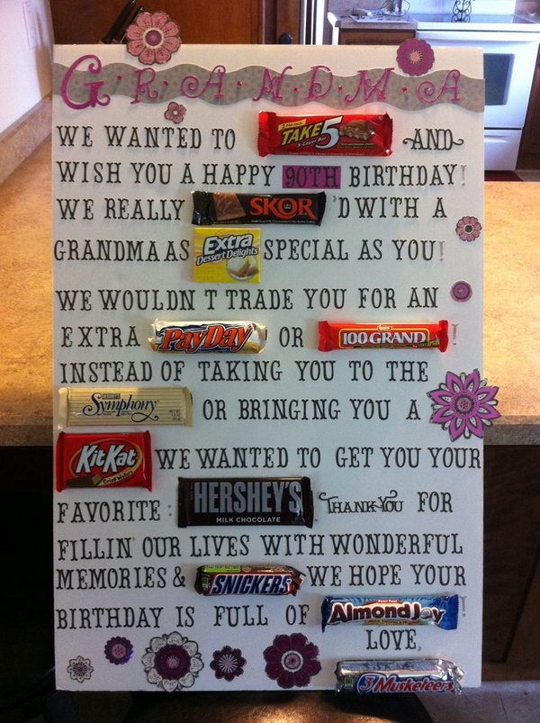 candy bar poster ideas with clever