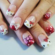 cute kitty nail art design