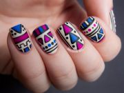 cool tribal nail art design