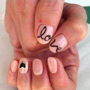 romantic valentine nail design