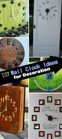 DIY Wall Clock Ideas for Decoration - Hative