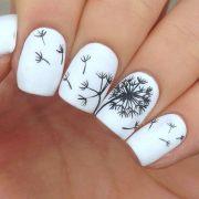 cute dandelion nail art design