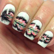 creative feather nail art design