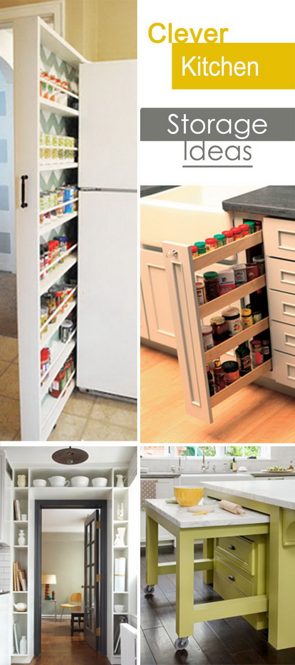 diy rolling kitchen island cabinet showrooms clever storage ideas - hative