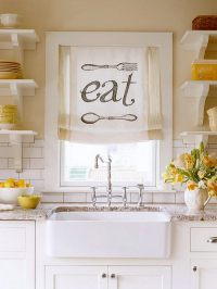 Creative Kitchen Window Treatment Ideas