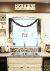 Creative Kitchen Window Treatment Ideas - Hative