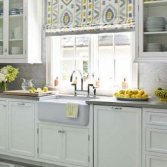 Kitchen Window Ideas Hutch Ikea Creative Treatment Hative Yellow And Gray