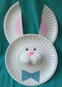 Pin Paper Plate Bunny Mask Kids Craft on Pinterest