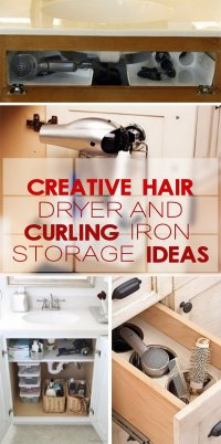 Creative Hair Dryer and Curling Iron Storage Ideas - Hative