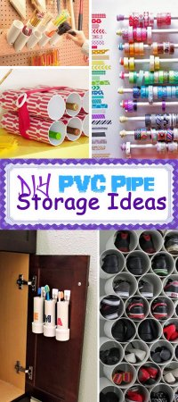 DIY PVC Pipe Storage Ideas - Hative