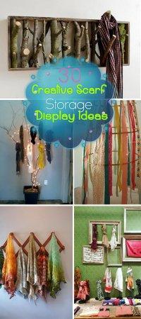 30 Creative Scarf Storage & Display Ideas - Hative