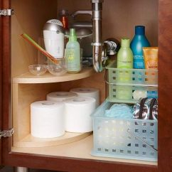 Under Kitchen Sink Organizer Island With Drop Leaf Clearance Creative Storage Ideas Hative Install A Curved Multitier Unit Along The Undersink Plumbing Free Up Space For Everyday