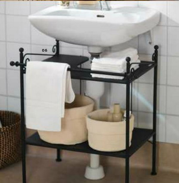 door mounted kitchen garbage can with lid small island chairs creative under sink storage ideas - hative