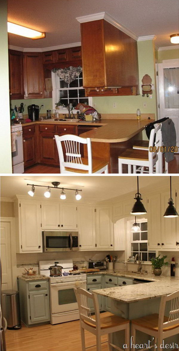 kitchen make over cabinet designer before and after 25 budget friendly makeover ideas hative 80s transformation