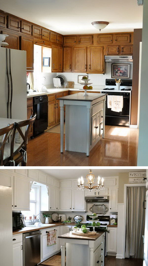 kitchen makeovers calphalon essentials before and after 25 budget friendly makeover ideas hative simple cuisine a white revelation great redo on