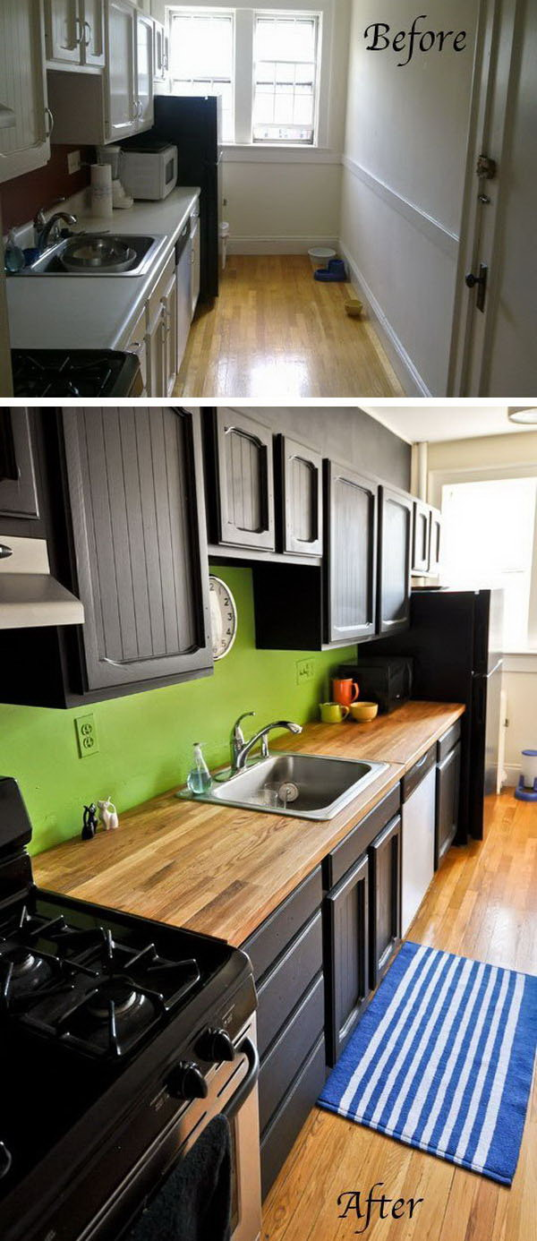 Before and After: 25+ Budget Friendly Kitchen Makeover