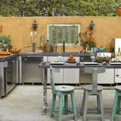 Outside Kitchen Designs Outdoor Island 25 Cool And Practical Ideas Patio Furniture Home There S A Feeling Of Some Age Maturity To This Designed By Sandy Koepke