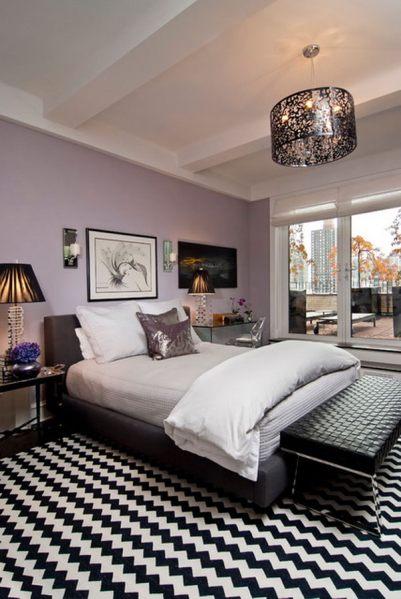 light purple and black bedroom 80 Inspirational Purple Bedroom Designs & Ideas - Hative