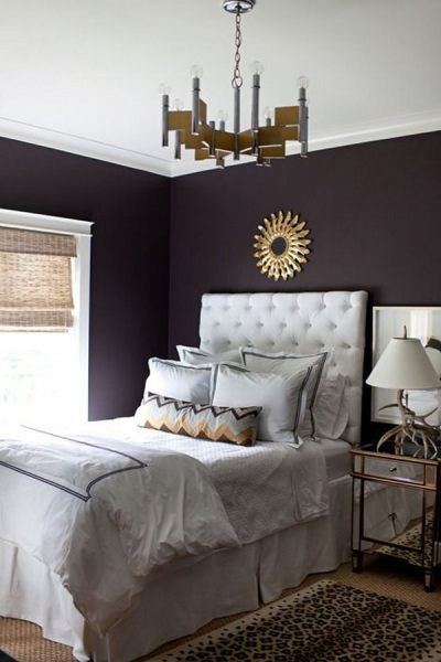 dark bedroom wall idea 80 Inspirational Purple Bedroom Designs & Ideas - Hative