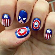 cute 4th of july patriotic nail