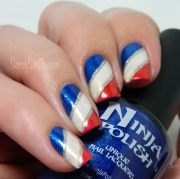 glitter 4th of july nail art
