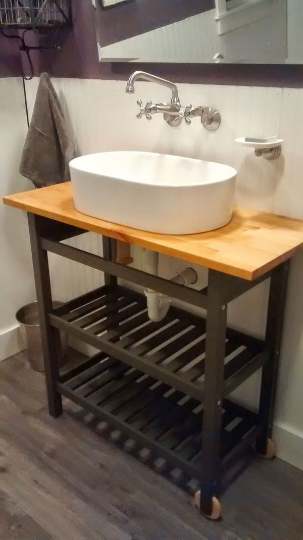 under kitchen sink storage wallpaper for walls 15 genius ikea hacks bathroom - hative