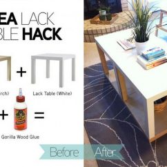 Lack Sofa Table As Desk Italian Leather Yellow 20 Ikea Hacks Hative Hack With More Storage You Can Easily Turn Two Simple Tables