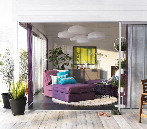 ikea purple sofa most comfortable sectional ever 15+ beautiful living room ideas - hative