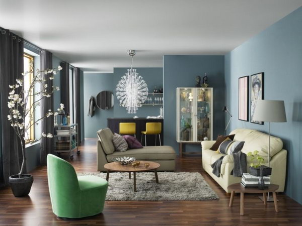 ikea living rooms ideas contemporary room design pictures 15 beautiful hative blue is a popular color during the summer time painted walls make