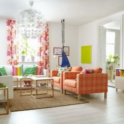 Ikea Living Rooms Ideas Room With Black Couches 15 Beautiful Hative Spring Colors Curtains The Brown Sofa And Rainbow Pillows