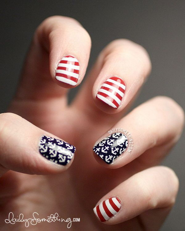 50 Cool Anchor Nail Art Designs Styletic