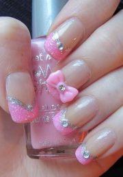 wonderful bow nail art design