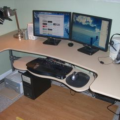 Desktop Gaming Chair Bent Wood 15+ Diy Computer Desk Ideas & Tutorials For Home Office - Hative