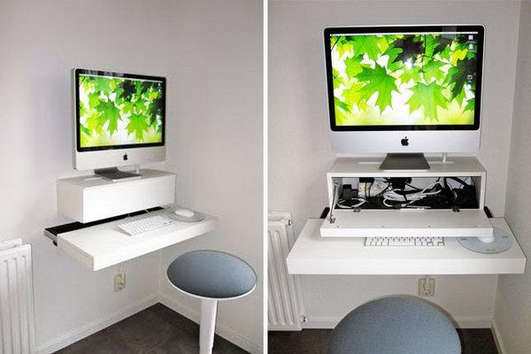 cheap kitchen storage sink drain 15+ diy computer desk ideas & tutorials for home office ...