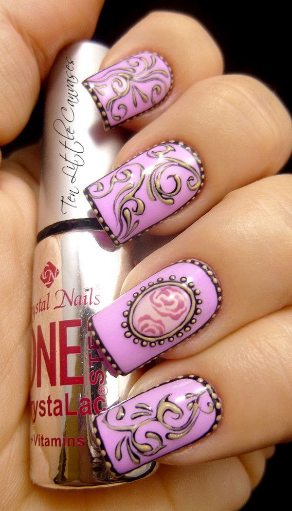 Purple Nails Art Designs For Cute S